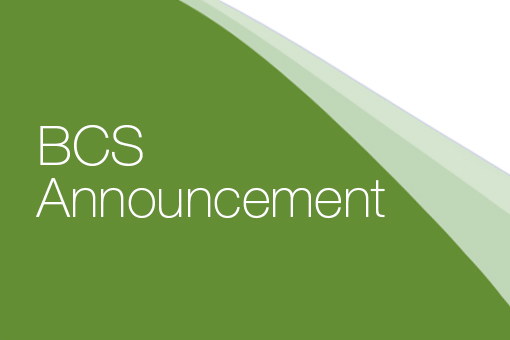 BCS Announcement