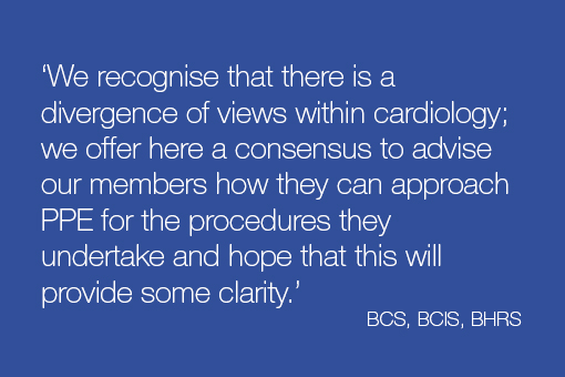 BCS, BCIS & BHRS statement on PPE PHE guidance
